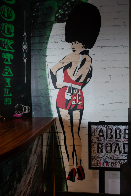 Mural in bar area
